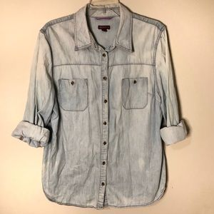 Merona Chambray Button-Down Shirt [XXL]
